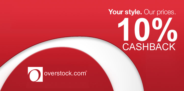 Overstock Cashback Weekly Deal