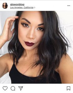 fall beauty trends vampy lips