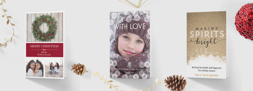 Professionally designed Holiday Cards templates