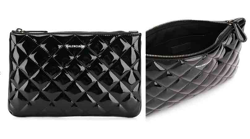 Farfetch-Balenciaga-Ville M quilted pouch