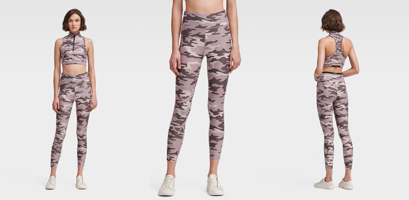 DKNY HIGH-WAISTED CAMO-PRINT LOGO LEGGING