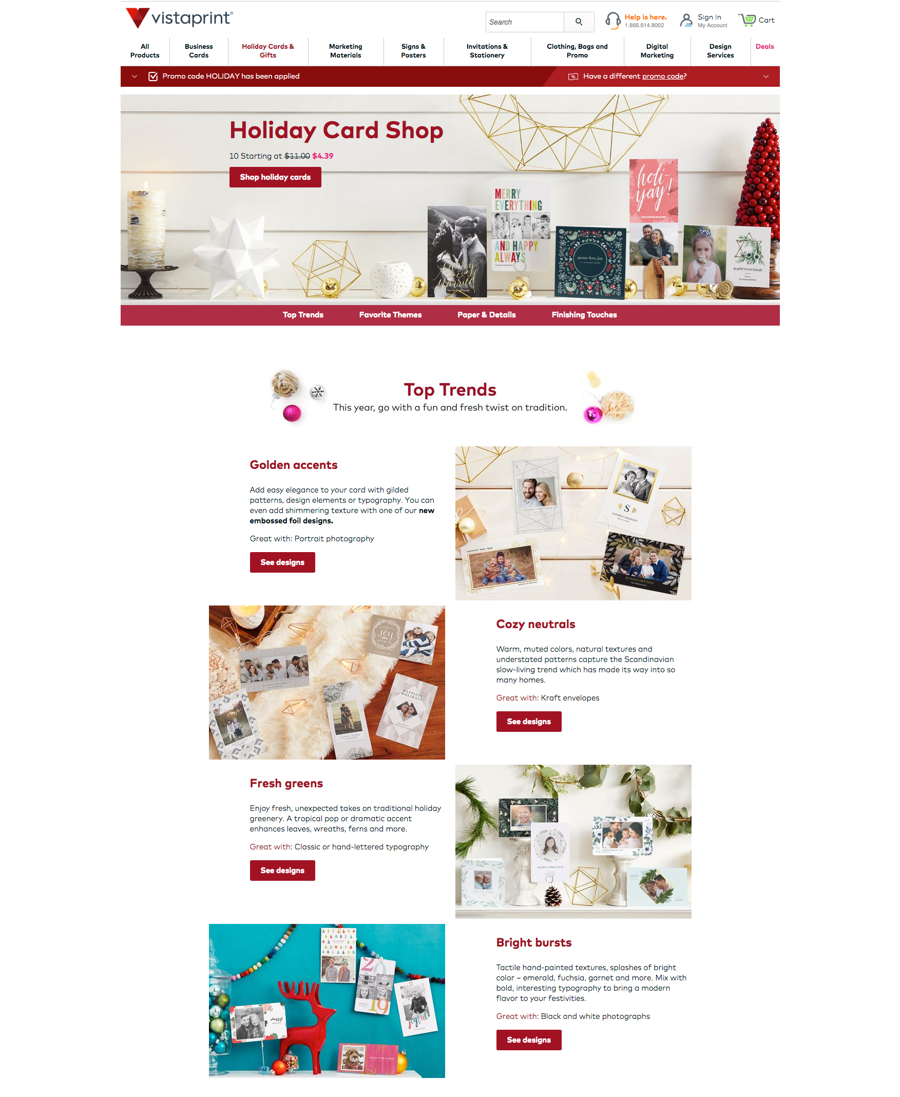 Vistaprint Holiday Card Shop