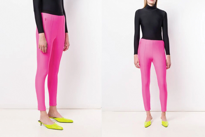 pink logo waistband leggings